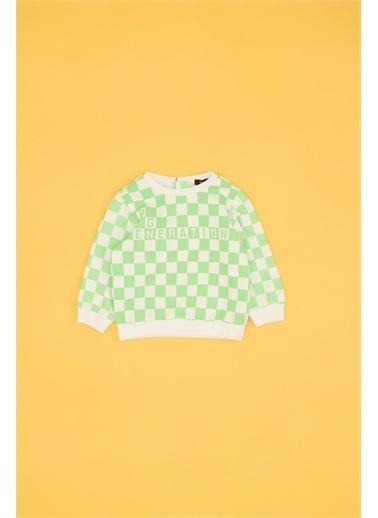 BG Baby Erkek Bebek Desenli Sweatshirt  Renkli
